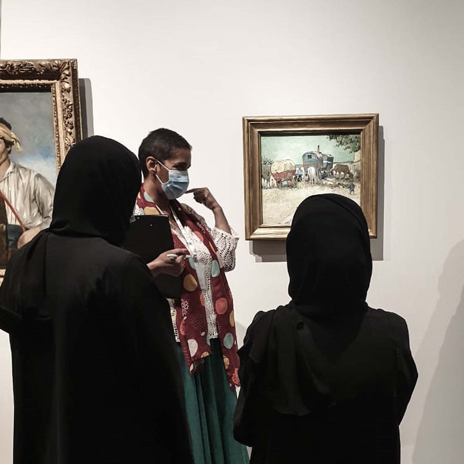 Training in the permanent galeries at Louvre Abu Dhabi